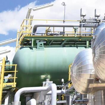 Petrochemische Industrieanlage